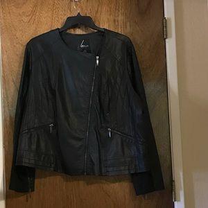 Lane Bryant Leather Look Jacket
